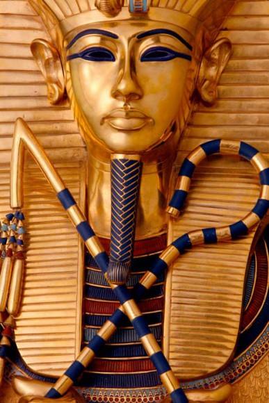 Detail des goldenen Innensarges