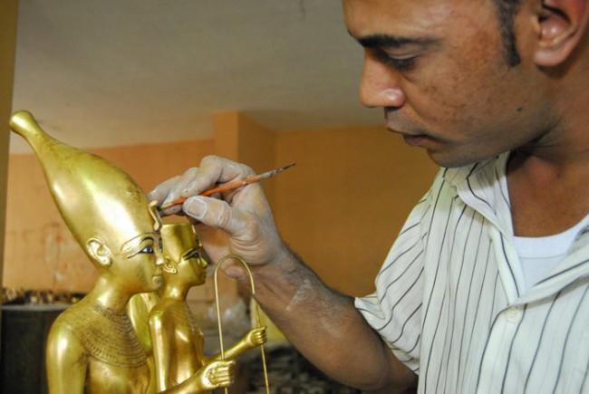 1. Workshop in Kairo | Ausarbeitung der Götterfiguren