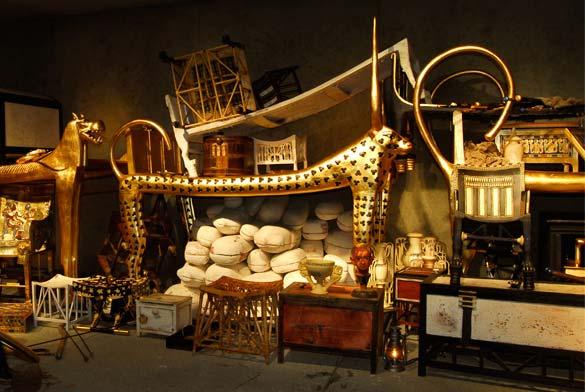 TUTANCHAMUNS Grab in der Ausstellung